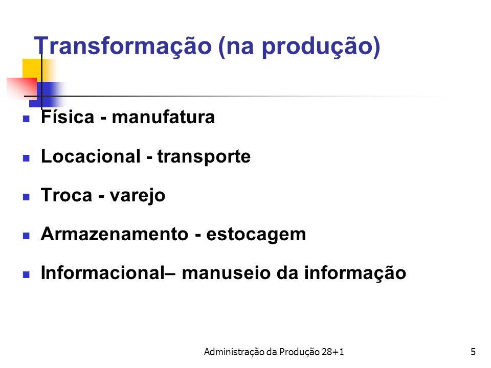 Transformação (na produção)