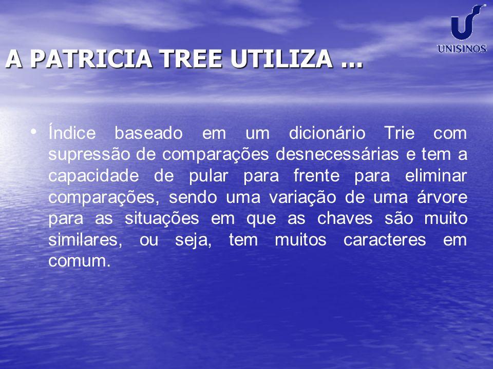 A PATRICIA TREE UTILIZA ...