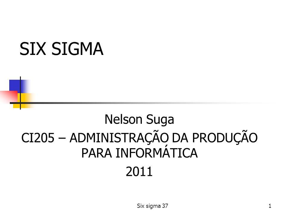 Nelson Suga CI205 – ADMINISTRAÇÃO DA PRODUÇÃO PARA INFORMÁTICA 2011