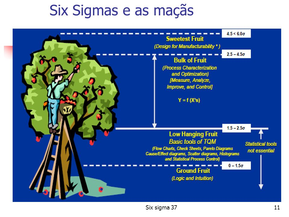 Six Sigmas e as maçãs Six sigma 37
