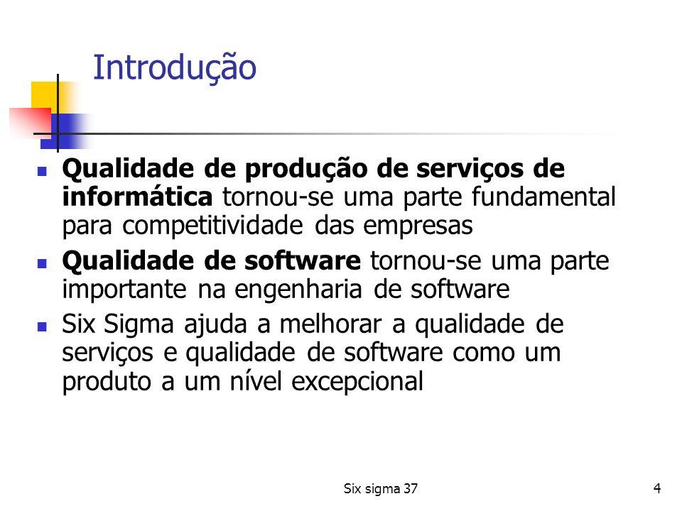 Introdução Qualidade de produção de serviços de informática tornou-se uma parte fundamental para competitividade das empresas.