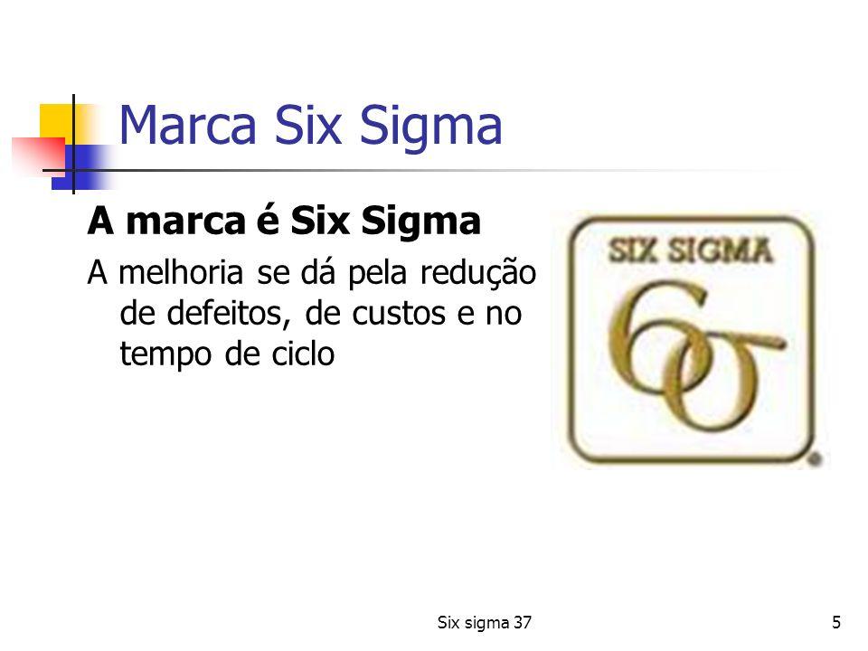 Marca Six Sigma A marca é Six Sigma