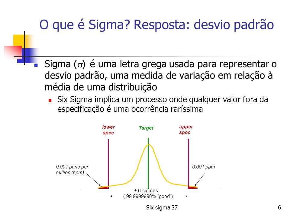 O que é Sigma Resposta: desvio padrão