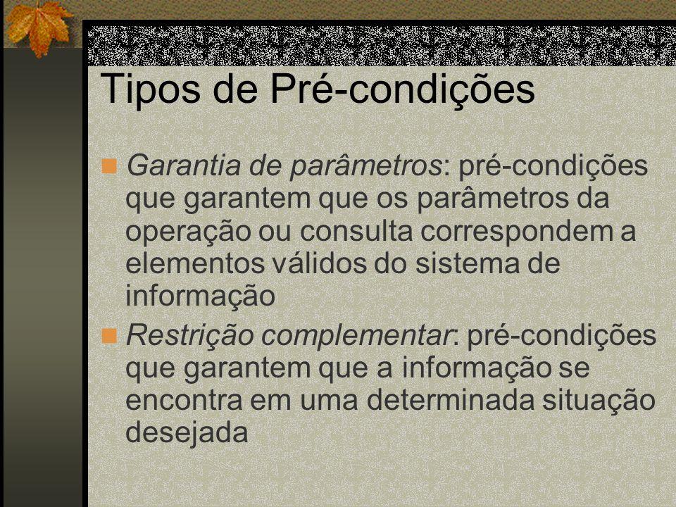 Tipos de Pré-condições