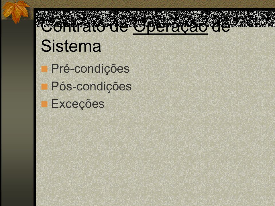 Contrato de Operação de Sistema