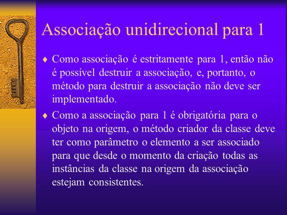 Associação unidirecional para 1