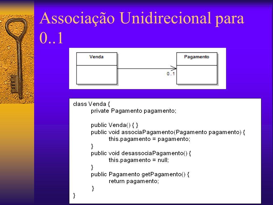 Associação Unidirecional para 0..1