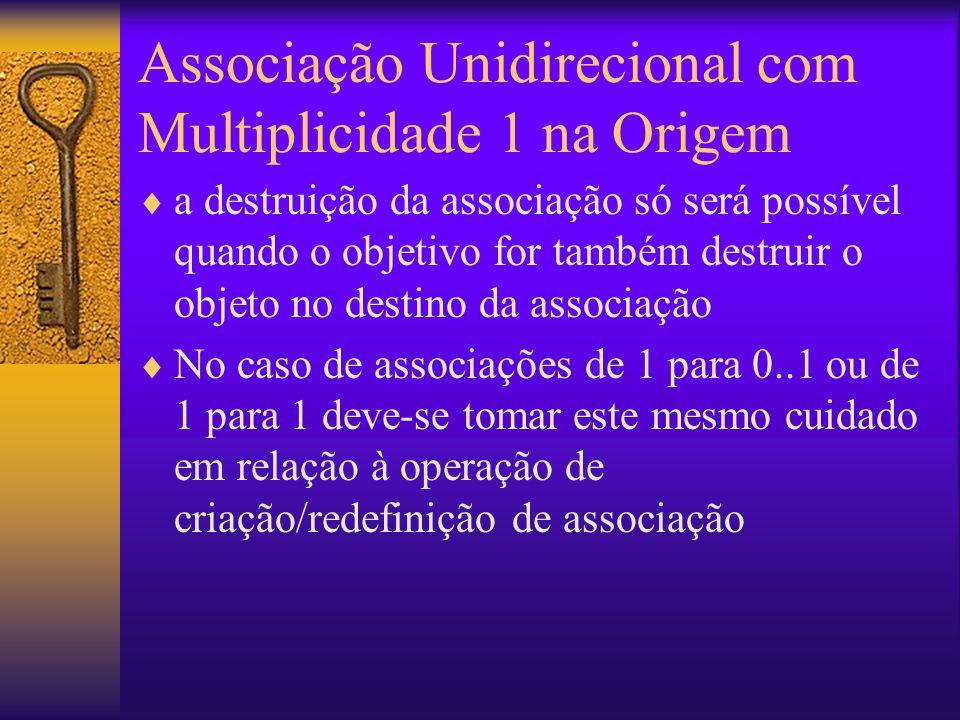 Associação Unidirecional com Multiplicidade 1 na Origem