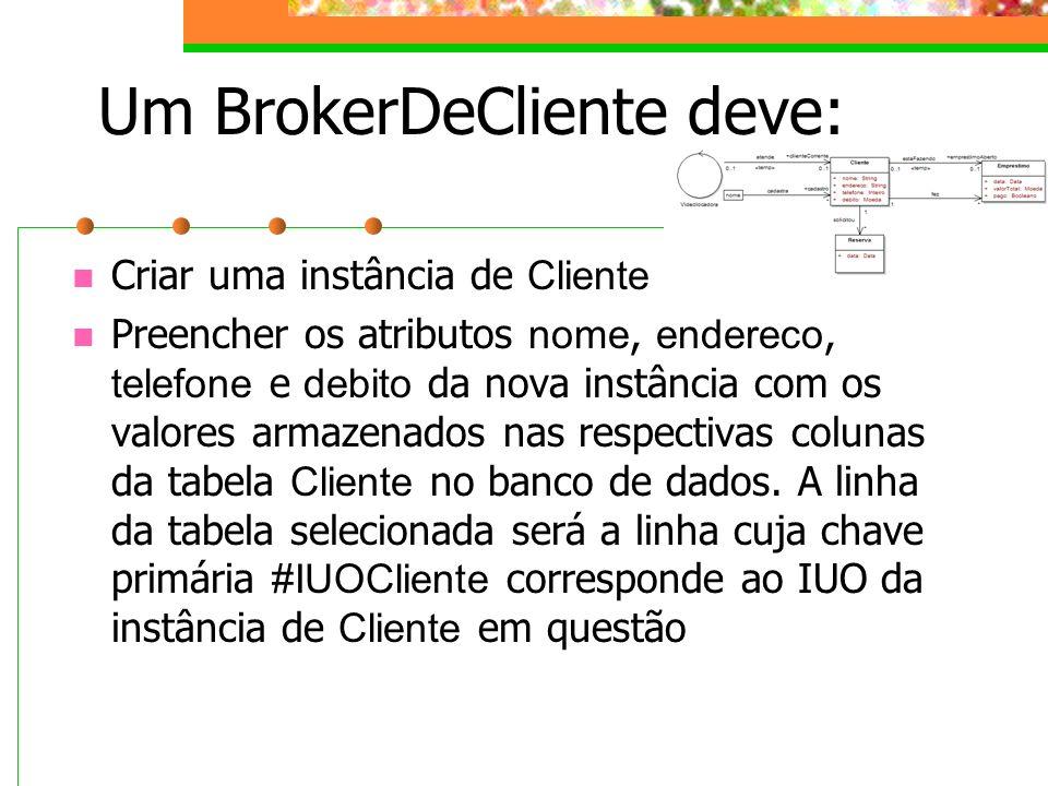 Um BrokerDeCliente deve:
