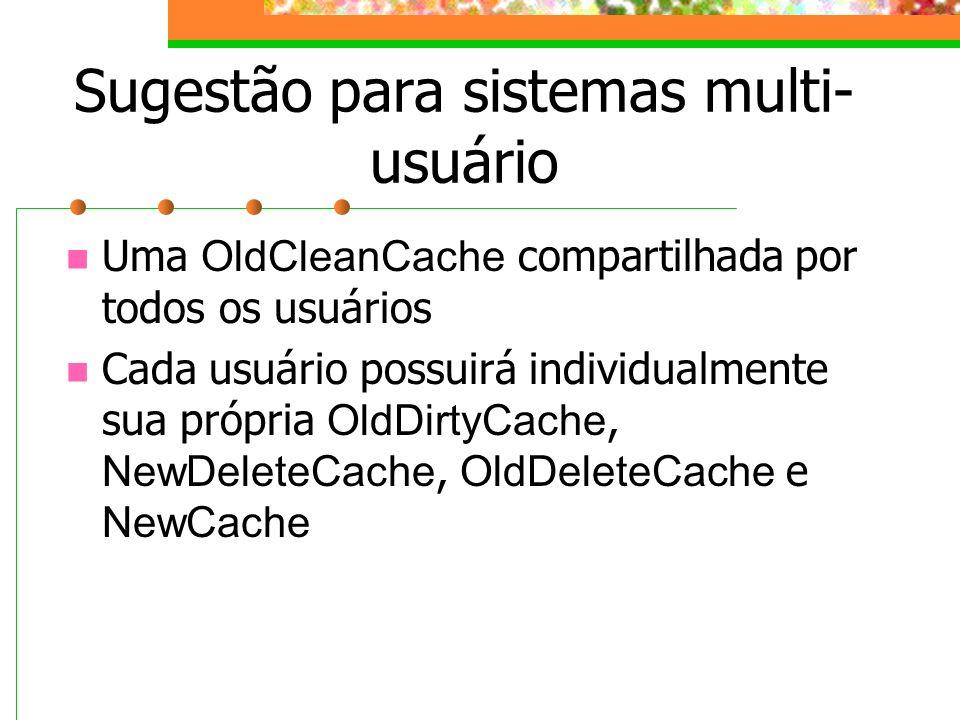 Sugestão para sistemas multi-usuário