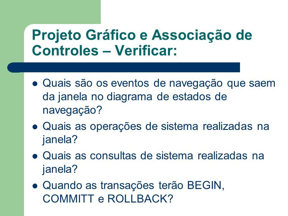 Projeto Gráfico e Associação de Controles – Verificar: