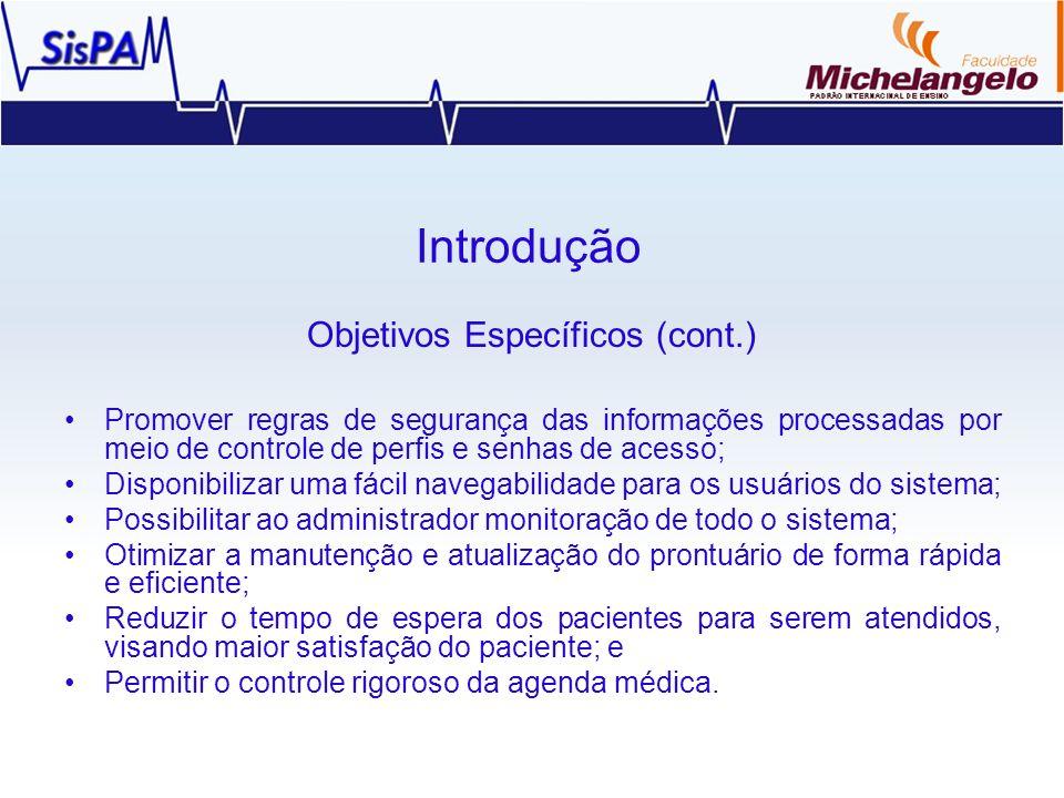 Objetivos Específicos (cont.)