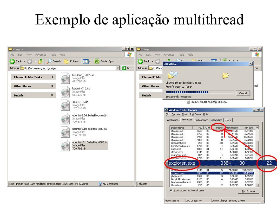 Exemplo de aplicação multithread
