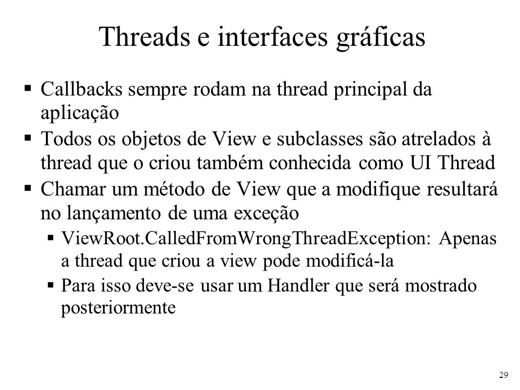 Threads e interfaces gráficas
