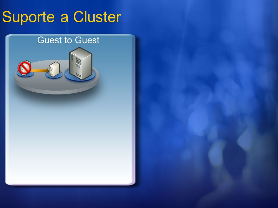 Suporte a Cluster Guest to Guest