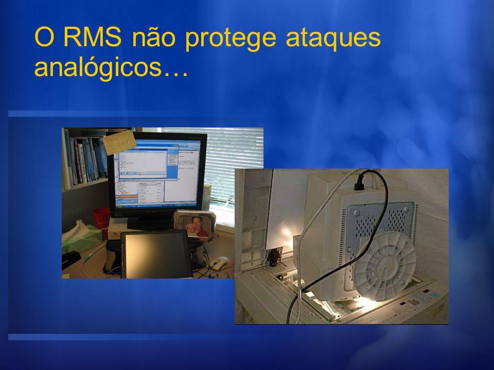 O RMS não protege ataques analógicos…