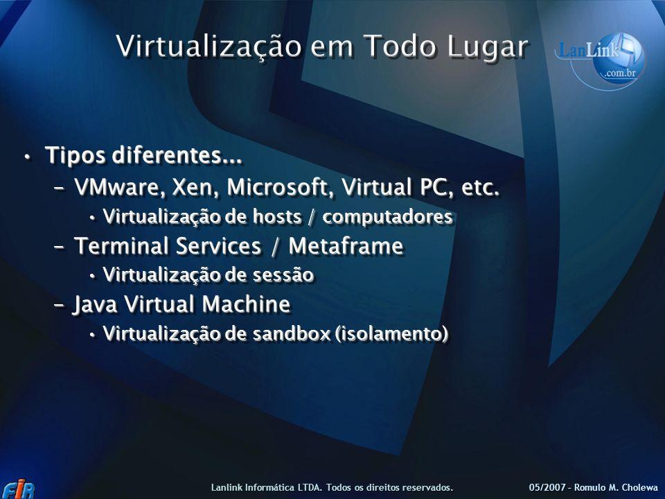 Virtualização em Todo Lugar