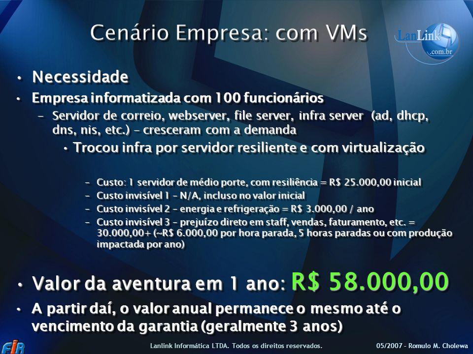 Cenário Empresa: com VMs
