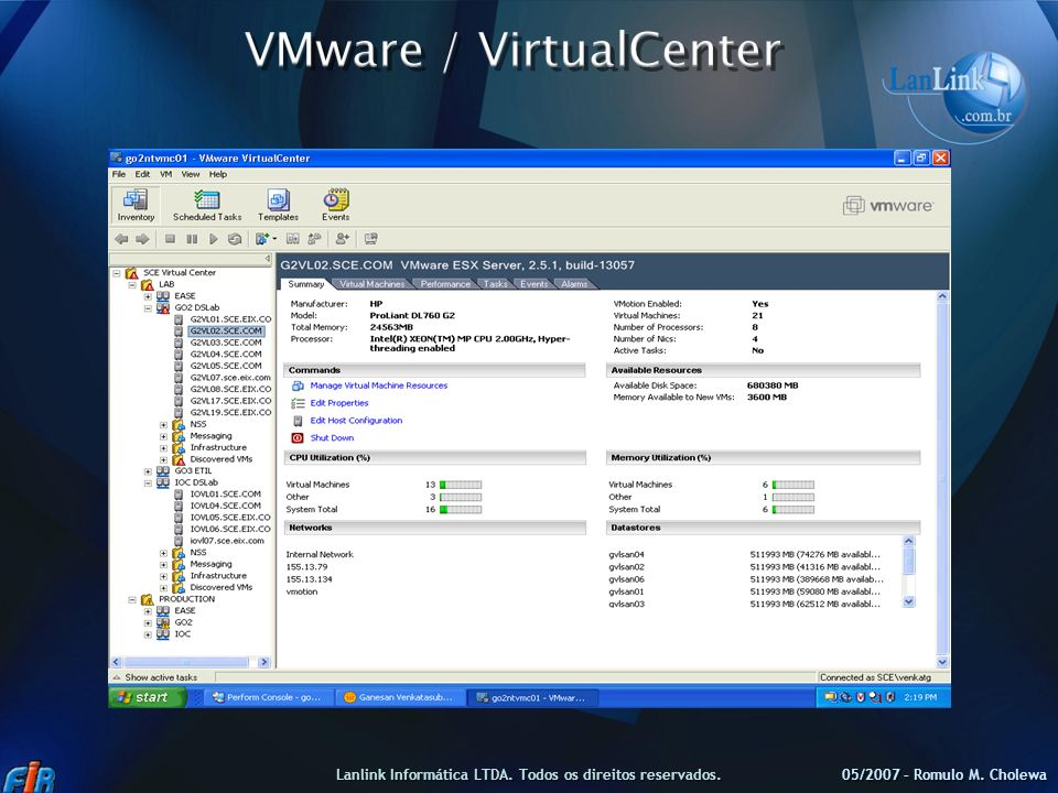 VMware / VirtualCenter