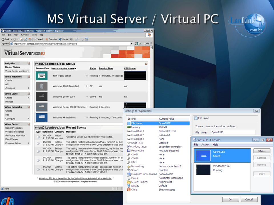 MS Virtual Server / Virtual PC