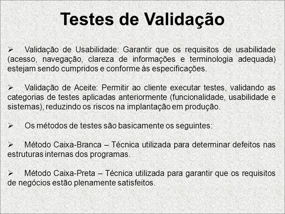 Testes de Validação