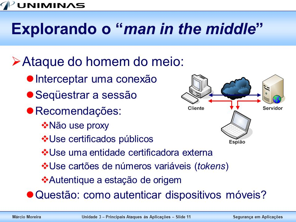 Explorando o man in the middle