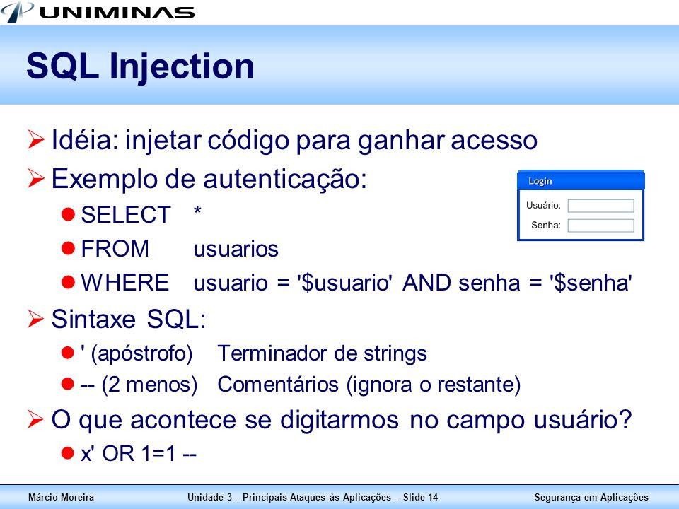 Unidade 3 – Principais Ataques às Aplicações – Slide 14