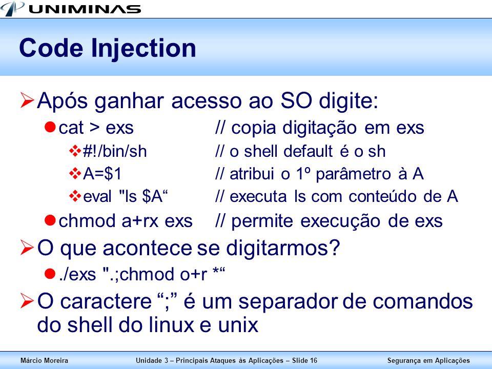 Unidade 3 – Principais Ataques às Aplicações – Slide 16
