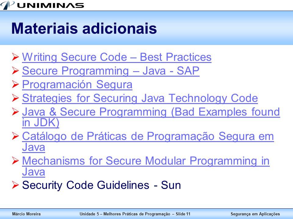 Unidade 5 – Melhores Práticas de Programação – Slide 11