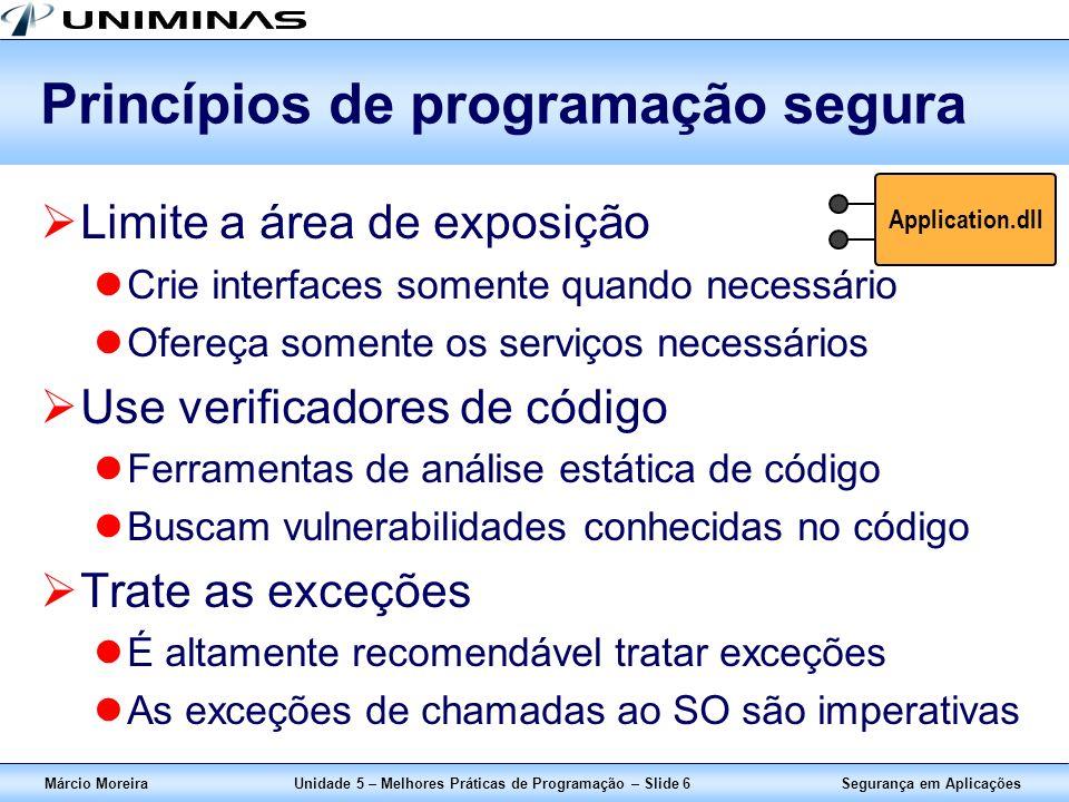 Princípios de programação segura
