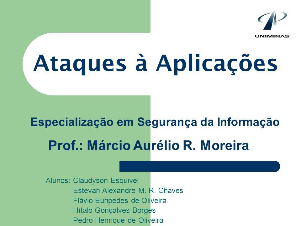 Ataques à Aplicações Prof.: Márcio Aurélio R. Moreira