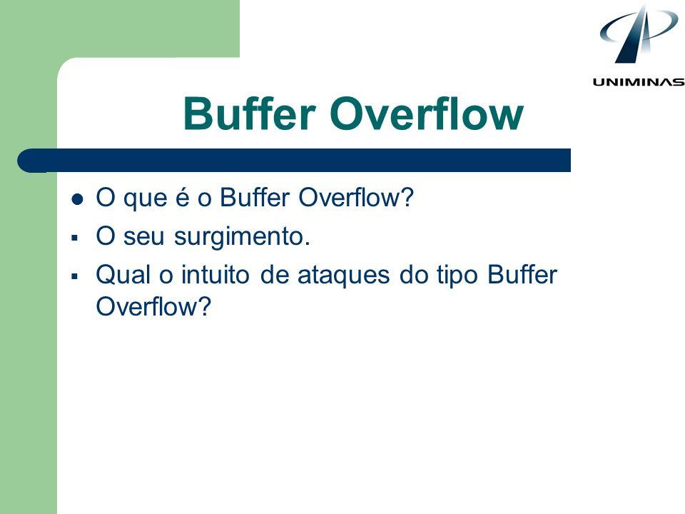 Buffer Overflow O que é o Buffer Overflow O seu surgimento.