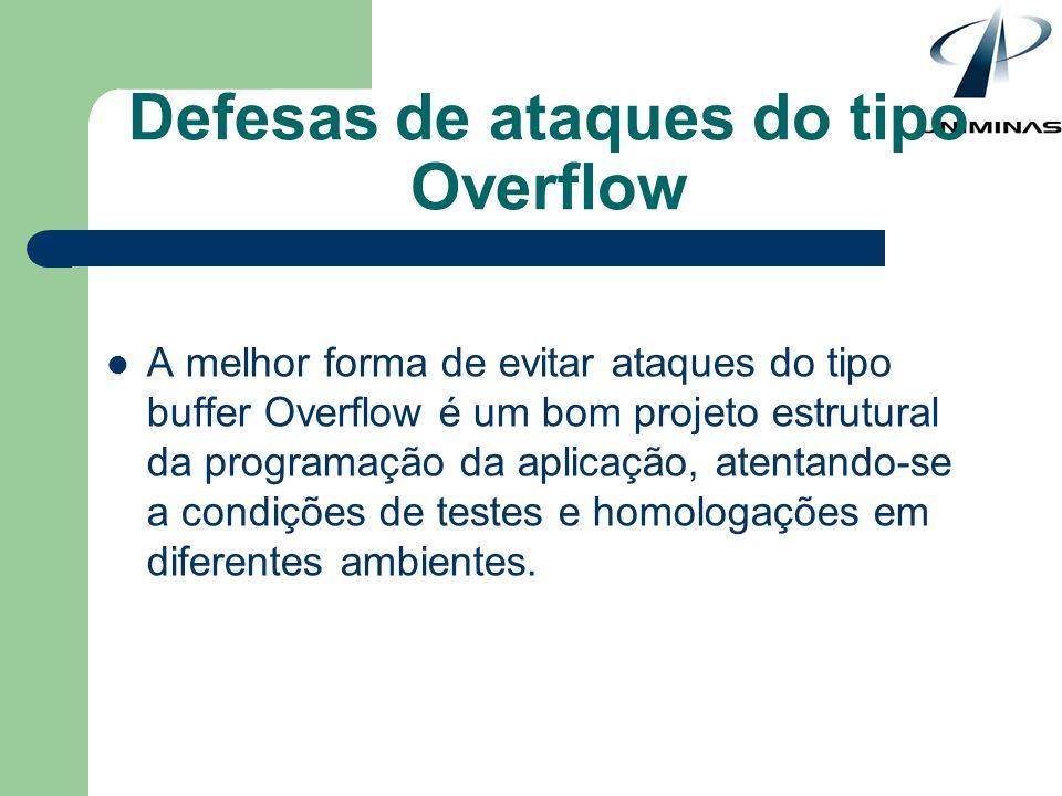 Defesas de ataques do tipo Overflow