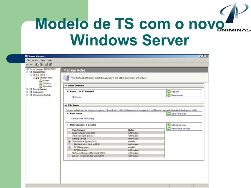 Modelo de TS com o novo Windows Server