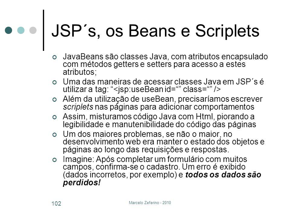 JSP´s, os Beans e Scriplets