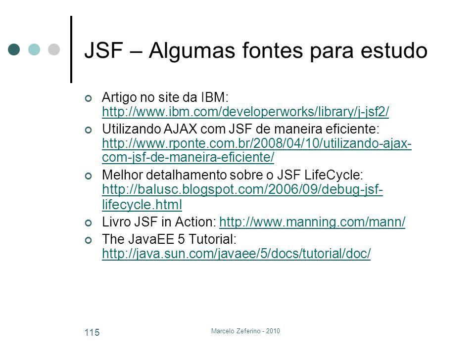 JSF – Algumas fontes para estudo