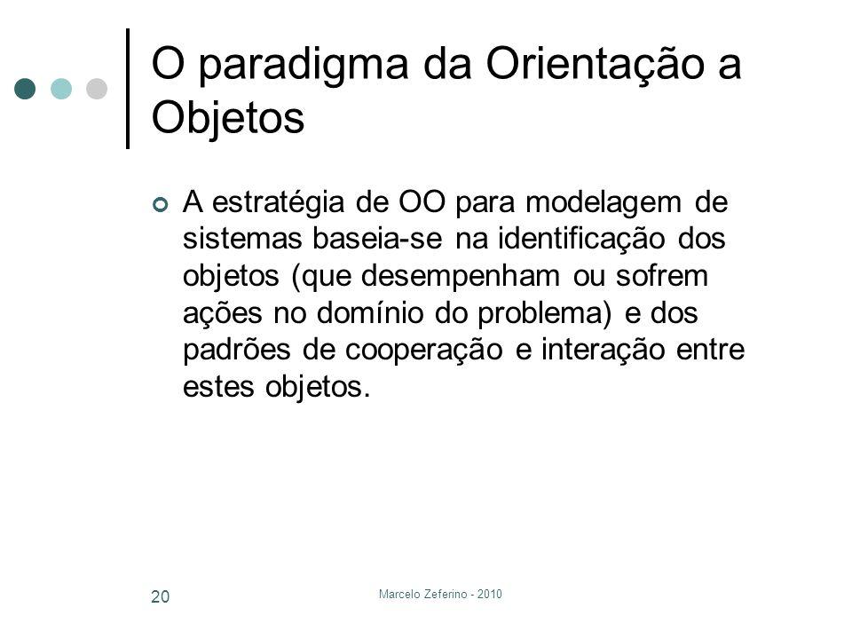 O paradigma da Orientação a Objetos
