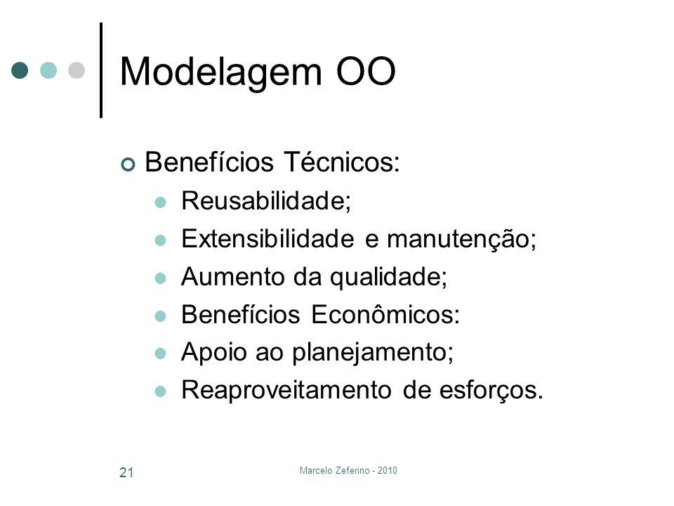 Modelagem OO Benefícios Técnicos: Reusabilidade;