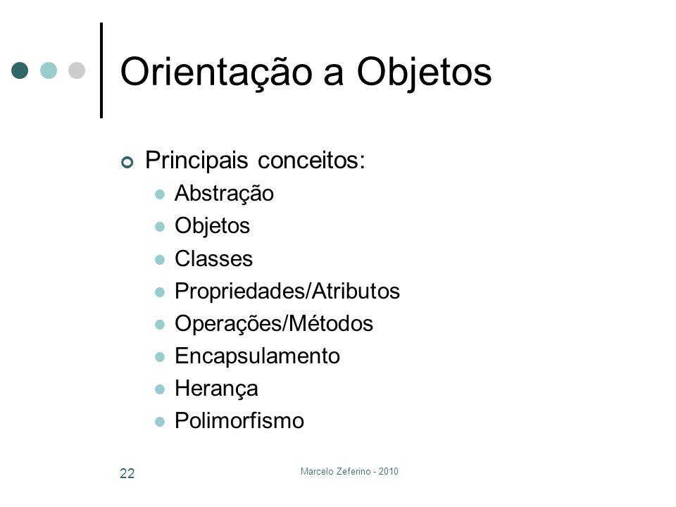 Orientação a Objetos Principais conceitos: Abstração Objetos Classes