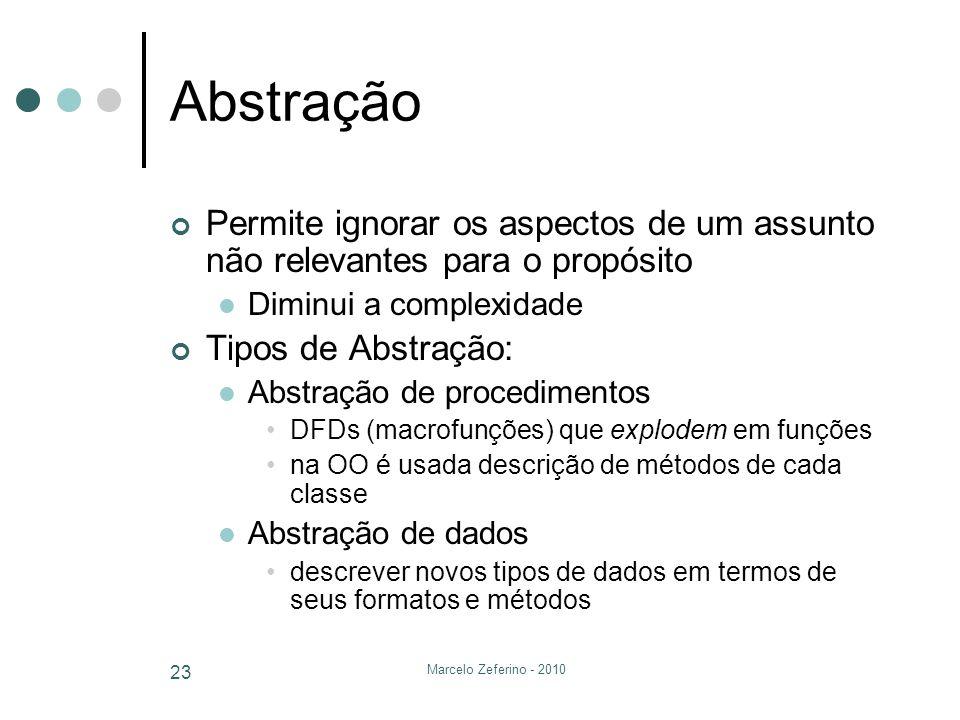 Abstração Permite ignorar os aspectos de um assunto não relevantes para o propósito. Diminui a complexidade.