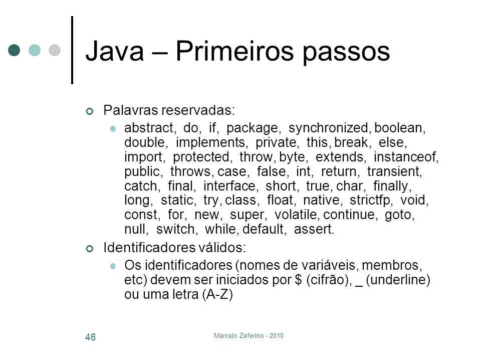 Java – Primeiros passos