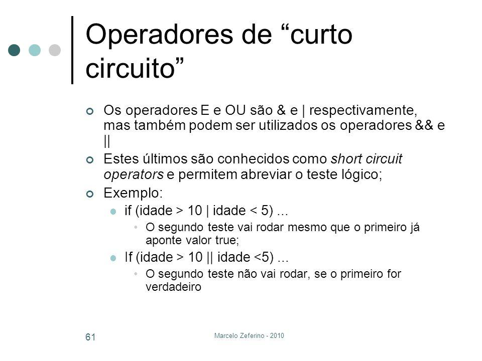 Operadores de curto circuito