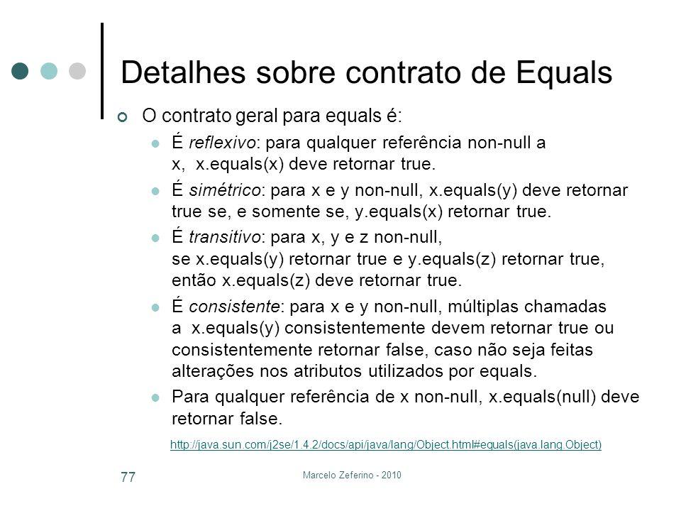 Detalhes sobre contrato de Equals