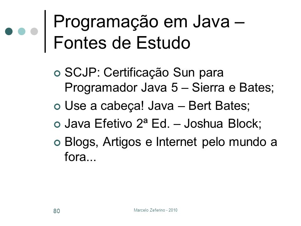 Programação em Java – Fontes de Estudo