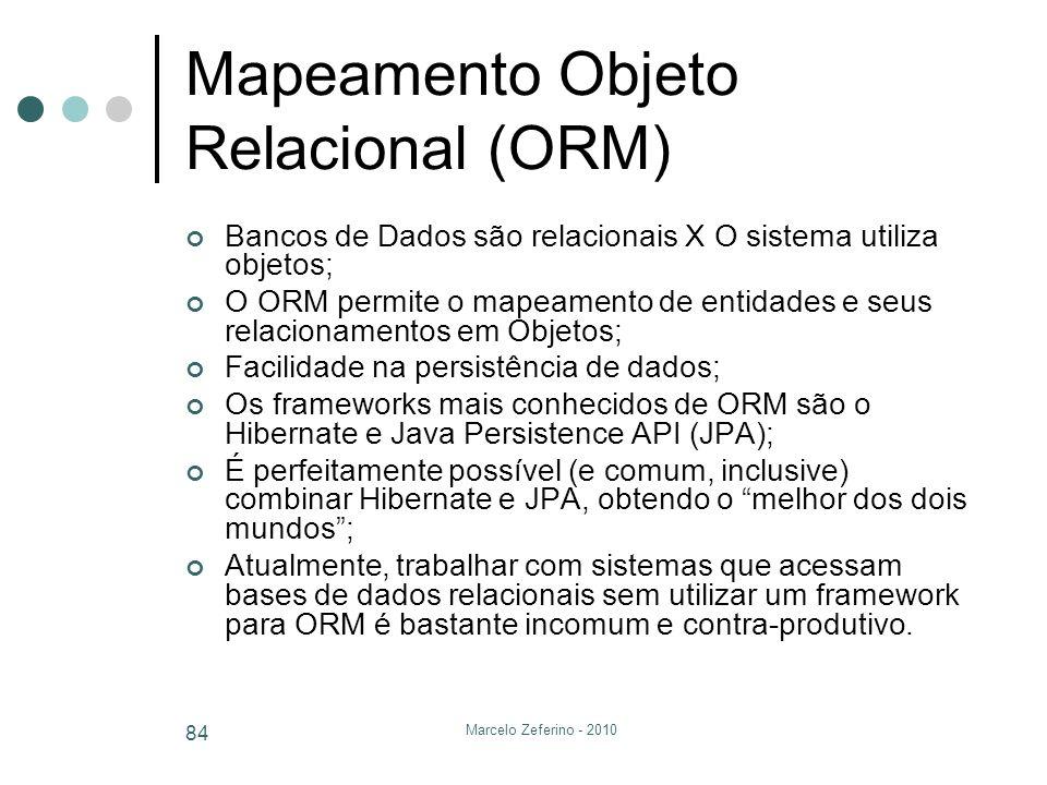 Mapeamento Objeto Relacional (ORM)