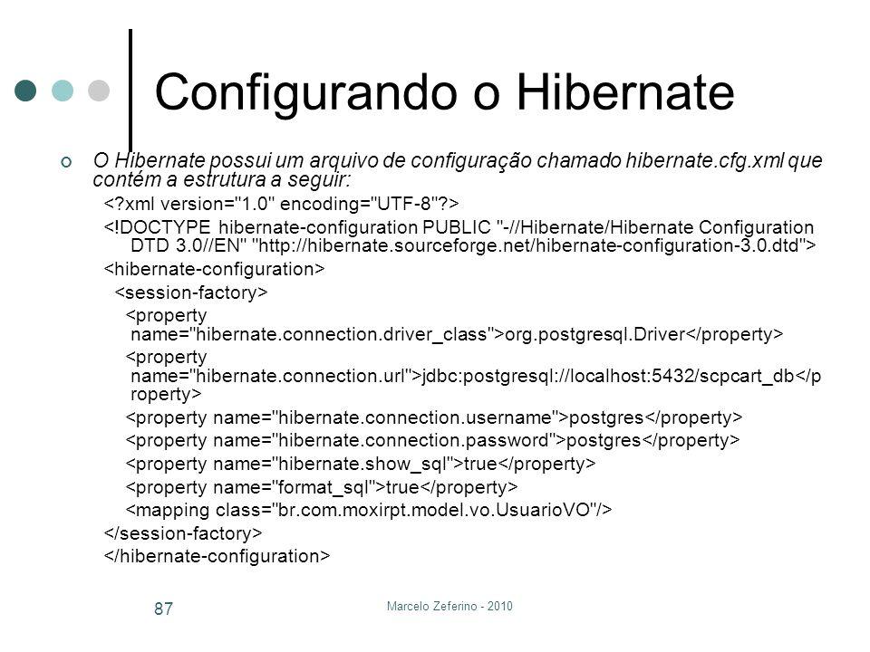 Configurando o Hibernate