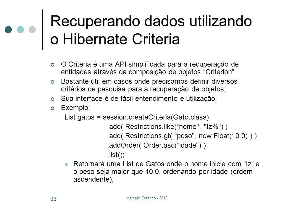 Recuperando dados utilizando o Hibernate Criteria