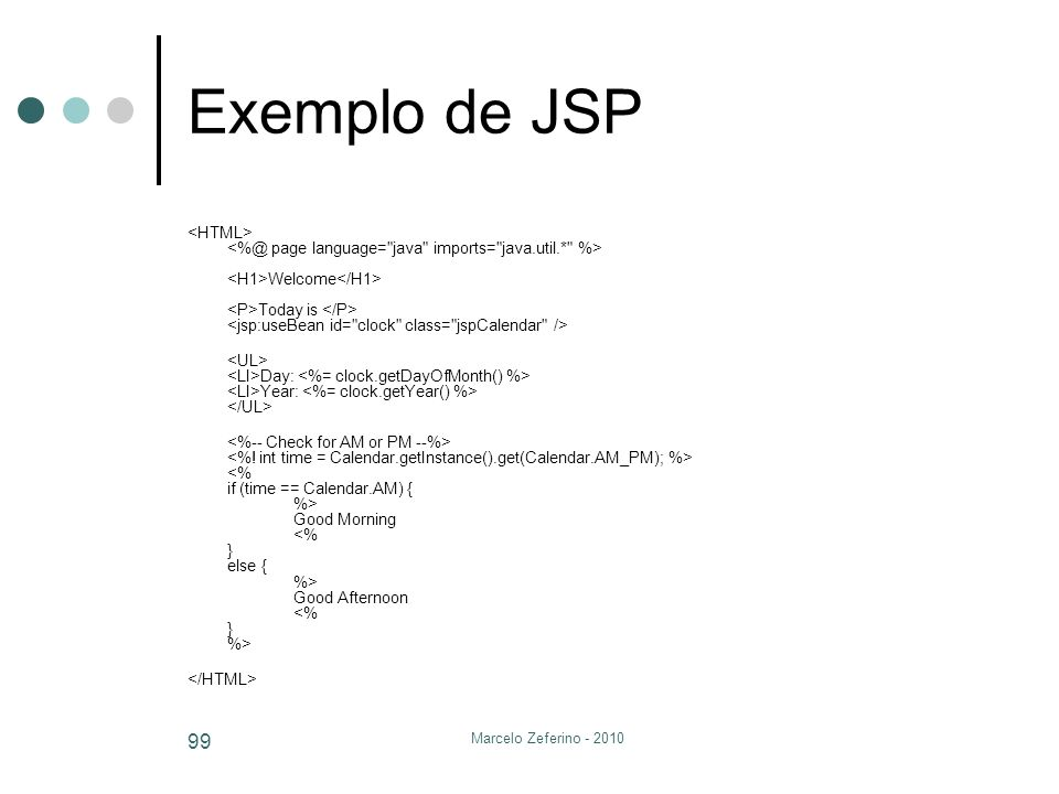 Exemplo de JSP