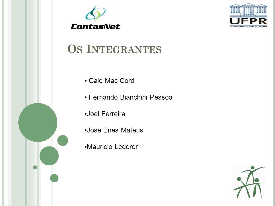 Os Integrantes Caio Mac Cord Fernando Bianchini Pessoa Joel Ferreira