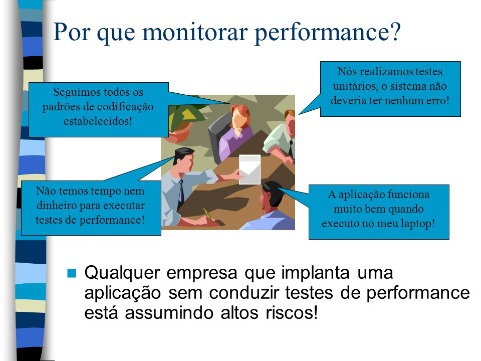 Por que monitorar performance